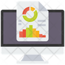 Seo Report Seo Graph Seo Analysis Icon