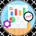 Data Analysis Data Monitoring Seo Report Icon