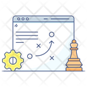 Seo Strategy Seo Tactics Tactical Planning Icon