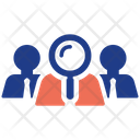 Search Team Leader Management Icon