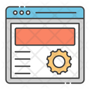 Seo Technology Web Design Web Settings Icon