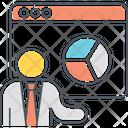 Seo Training Analysis Analytics Icon