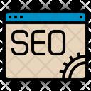 Seo Web Website Gear Seo Seo Web Icon