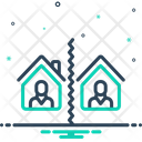 Separate Break Up Divide Icon