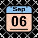 September Calendar Date Icon