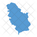 Serbia Map Icon