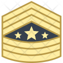 Sergeant major of army Icon