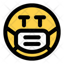 Serious Emoji With Face Mask Emoji Icon