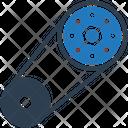 Serpentine Belt Rotation Automotive Icon