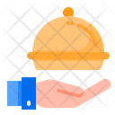 Food Delivery Hand Icon