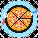 Italian Food Junk Food Serve Pizza Icon