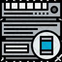 Server Smartphone Cloudy Icon