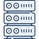 Server Data Server Online Data Storage Icon