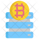 Server Bitcoin Cryptocurrency Icon