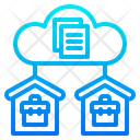 Server Worker Work From Home Icon