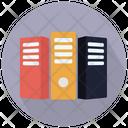 Three Servers Cpu Server Database Icon