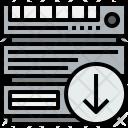 Server Arrow Cloudy Icon