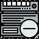 Server Remove Cloudy Icon