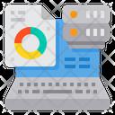 Laptop Server Analysis Icon
