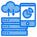 Cloud Server Data Base Icon