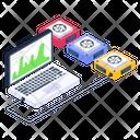 System Infographic System Data Server Analytics Icon