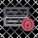 Server Database Virus Icon