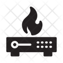 Server Database Fire Icon