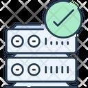 Server Check Data Storage Checked Icon