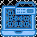 Server Coding Binary Code Binary Coding Icon