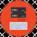 Server Computing Server Data Input Server Keyboard Icon