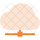 Server Connected Cloud Icon
