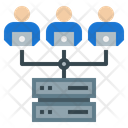 Cloud Computing Work At Home Office Teamwork Icon