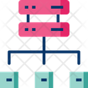 Data Center Server Connection Network Icon