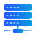 Data Base Server Cloud Icon