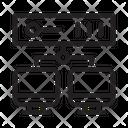 Storage Database Network Icon