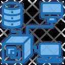Server Connection Blockchain Application Icon