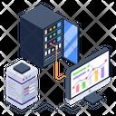 Server Room Client Server Server Connection Icon
