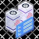 Server Racks Server Content Databases Icon