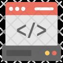 Server Data Coding Icon