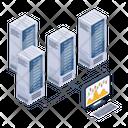 Server Monitoring Server Room Data Centers Icon
