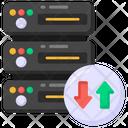 Server Data Transfer Database Upload Database Hosting Icon
