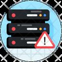 Server Caution Server Error Database Error Icon