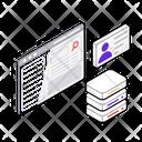 Server Hosting Computing Server Client Network Icon