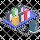 Server Hosting Data Server Center Big Data Server Icon