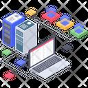 Server Hosting Database Server Database Storage Icon