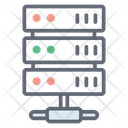Online Computing Server Storage Connected Server Icon