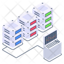 Connected Server Shared Server Server Network Icon