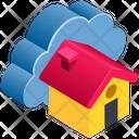 Cloud Computing House Icon