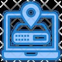 Server Location Location Management Icon
