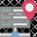 Server Location Server With Map Server With Map Pin Icon
